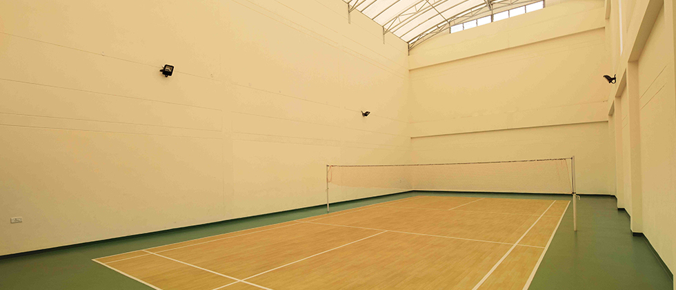 Badminton court (Actual Photograph)
