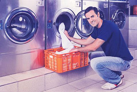 Self-service laundromat