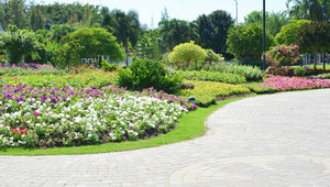 shrub beds in Godrej Greens, Pune