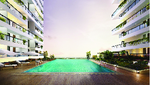 Swimming Pool of Godrej Platinum, Bangalore