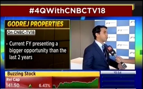 CNBC TV18 Chartbusters 02 May 2019 Mr Pirojsha Godrej Exec Chmn Godrej Properties