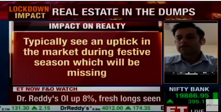 Mr Mohit Malhotra Godrej Properties with ET NOW