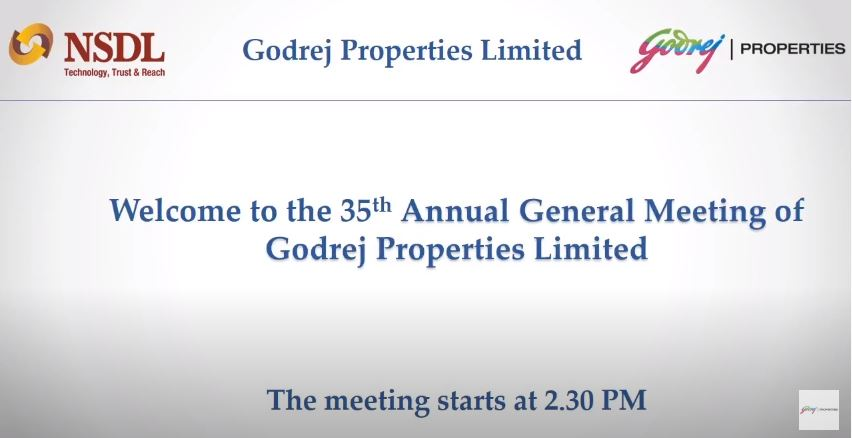 Godrej Properties Video proceedings of the 35th AGM